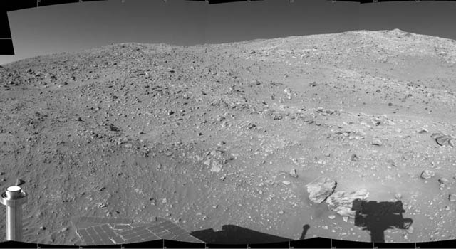 Part of Spirit's 360-degree view at the base of
