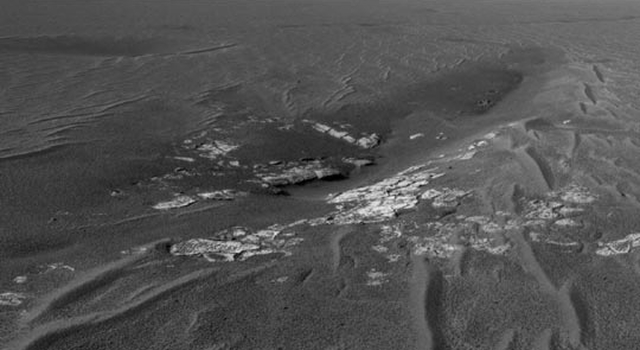This image was taken from the Mars Exploration Rover Opportunity's