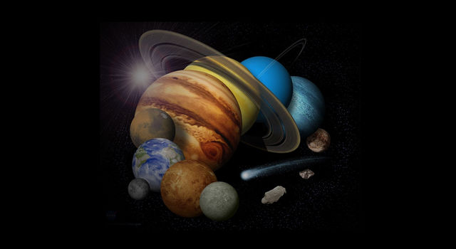 Montage of planets. Image credit: NASA/JPL