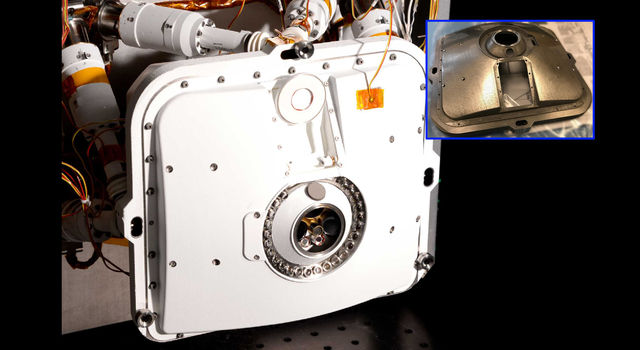 The outer shell of PIXL, one of the instruments aboard NASA's Perseverance Mars rover, includes several parts that were made of 3D-printed titanium