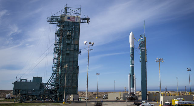 United Launch Alliance Delta II rocket with the Soil Moisture Active Passive (SMAP) observatory onboard