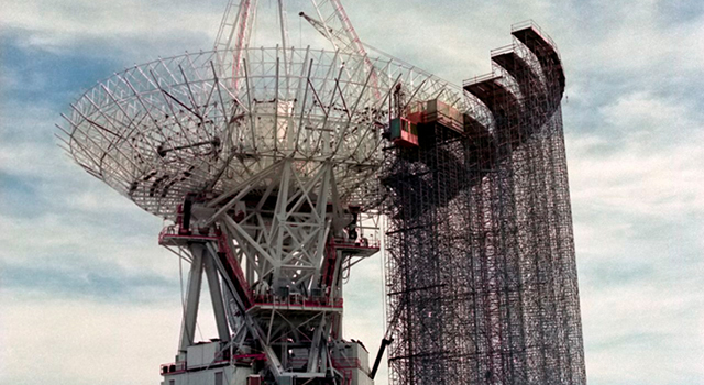 In anticipation of the upcoming flyby of Neptune by NASA's Voyager 2 spacecraft in 1989, NASA's Deep Space Network upgraded the giant antenna at the Goldstone complex known as DSS-14