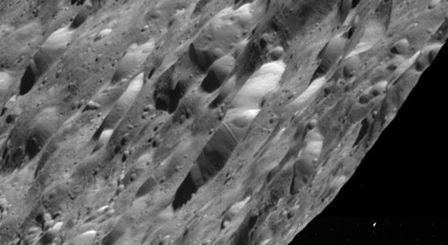 Craters on Saturn's moon Rhea