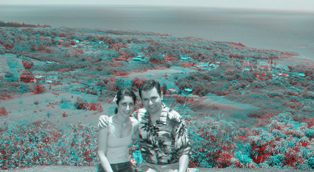 Gorjian and his fiancé in Hawaii.