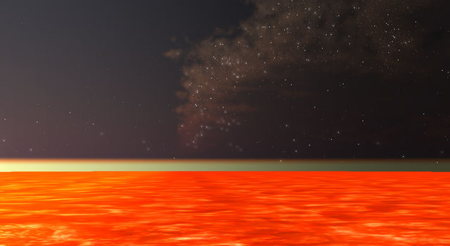 This artist's illustration from the Exoplanet Travel Bureau's 360-degree visualization tool