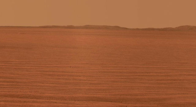 Eastward horizon view on the 2,407th Martian day, or sol