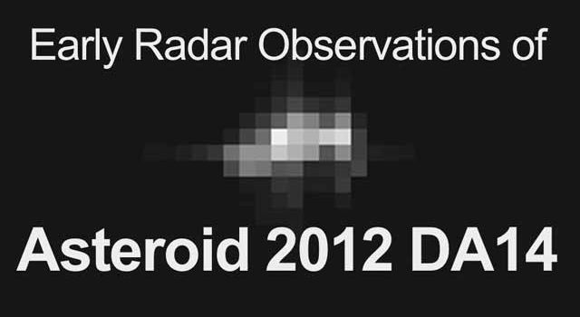 Early Radar Observations of Asteroid 2012 DA14