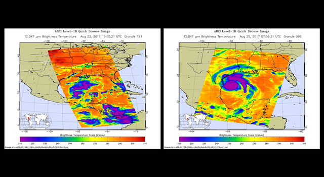 Hurricane Harvey as seen by the AIRS infrared instrument on NASA's Aqua satellite