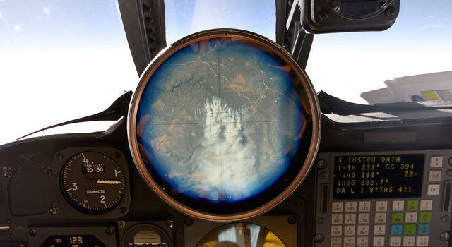 The cockpit view finder in the ER-2