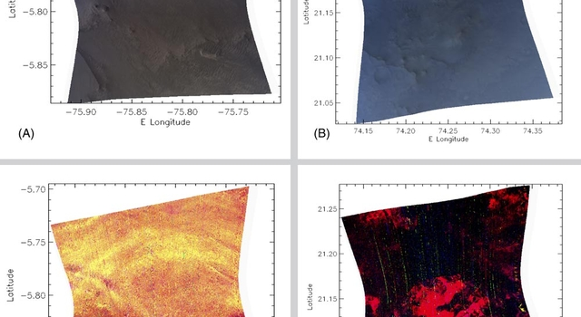 Spectrometer images of candidate landing sites