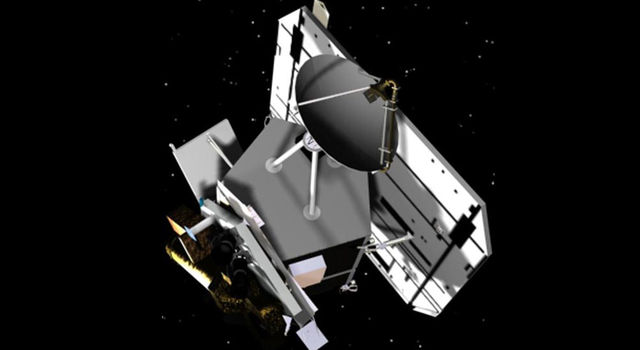 This is an artist's concept of the flyby spacecraft for the Deep Impact Mission.