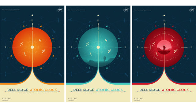 Three new posters of the Deep Space Atomic Clock