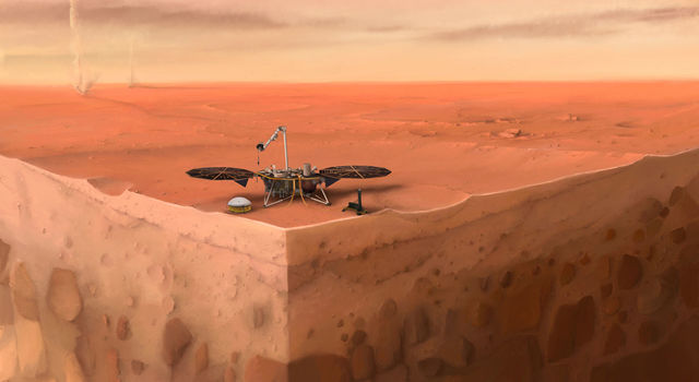 Artist's concept of NASA's InSight lander