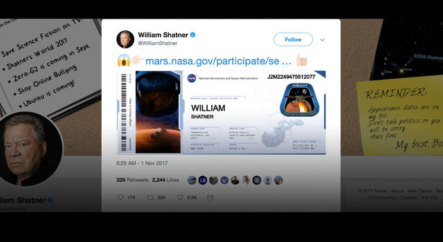 Actor William Shatner recently shared his