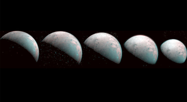 The first infrared mapping of Ganymede's northern frontier