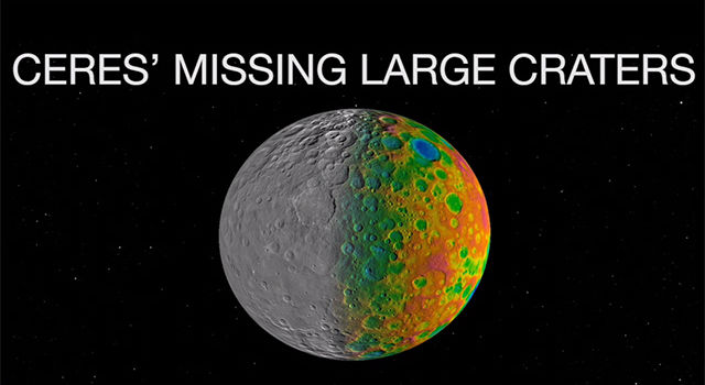 Ceres' Missing Large Craters