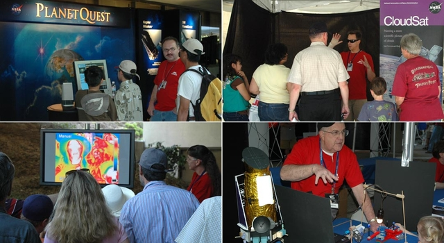 montage of images showing booths at Open House