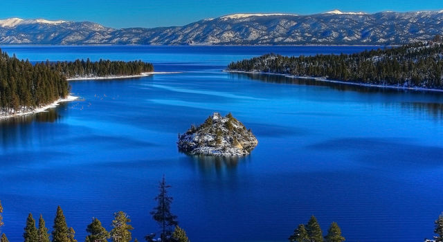 Lake Tahoe is renowned for its intense blue hue.