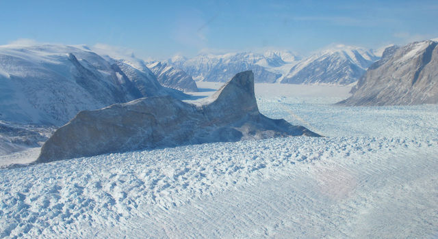 The Kangerdlugssup glacier in Greenland