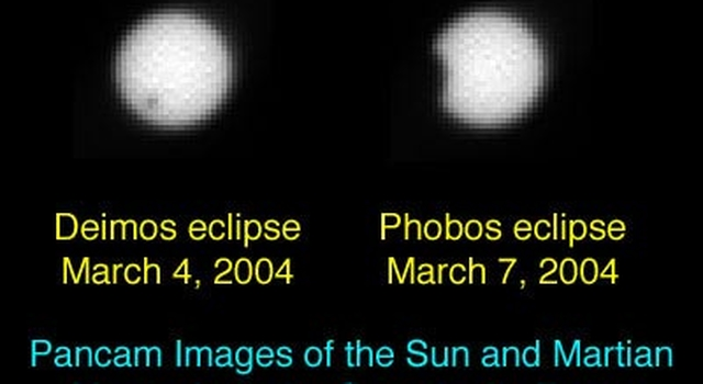 solar eclipses of Mars' moons