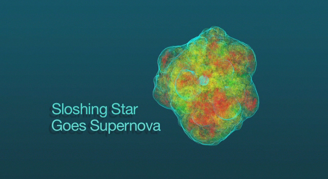 Sloshing Star Goes Supernova