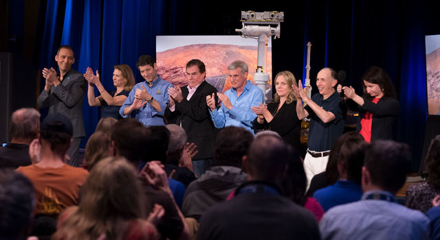 A round of applause at NASA's Jet Propulsion Laboratory in Pasadena, California, for a successful end to the mission of NASA's Opportunity Mars rover