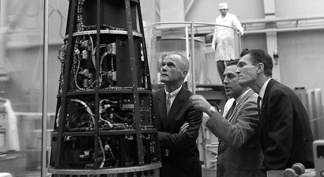 John Glenn visits NASA's Jet Propulsion Laboratory on November 16, 1962.