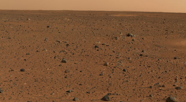 First color image from rover Spirit