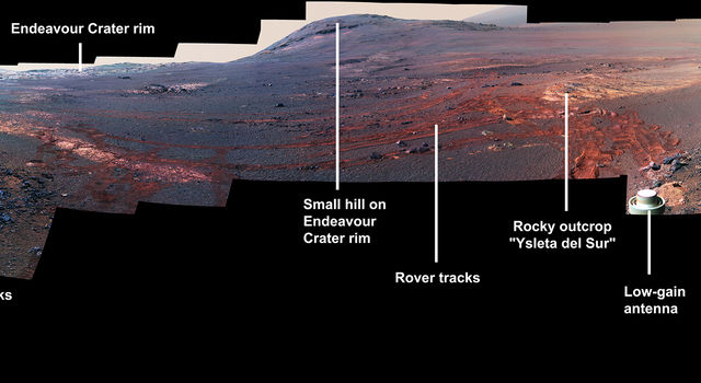 360-degree panorama taken by the Opportunity rover's Panoramic Camera