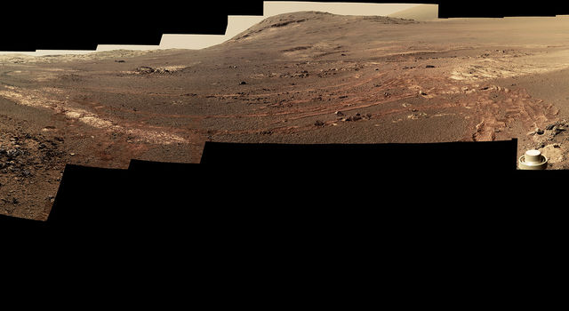 360-degree panorama taken by the Opportunity rover's Pancam