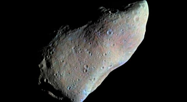 Asteroid Gaspra, October 29, 1991.