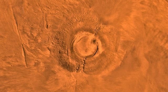 Arsia Mons Volcano on Mars