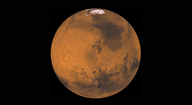 About 1000 Viking Orbiter red- and violet-filter images have been processed to provide global color coverage of Mars at a scale of 1 km/pixel.