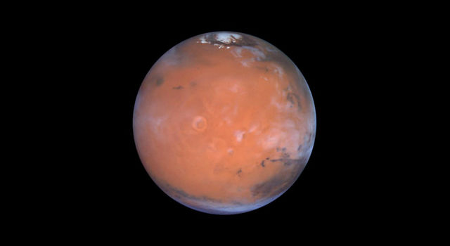 A new paper suggests hydrogen-possibly water ice-in the Medusa Fossae area of Mars.