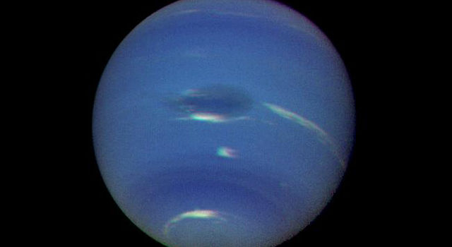 Neptune's Blue-green Atmosphere