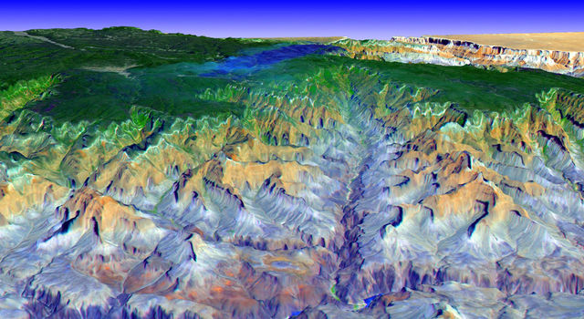 3-D View of Grand Canyon, Arizona