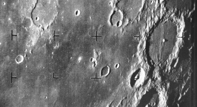 Ranger 7 took this image, the first picture of the Moon by a U.S. spacecraft