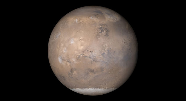 Mars, as seen by Mars Global Surveyor in 2003