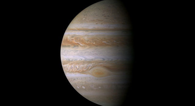 True color mosaic of Jupiter