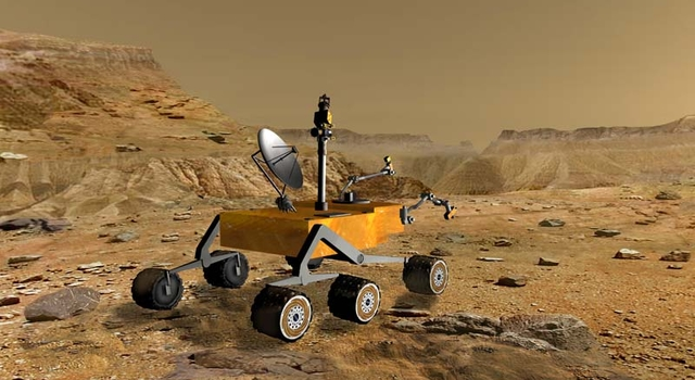 Artist's concept of NASA's Mars Science Laboratory