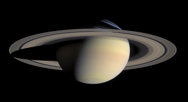 The B ring is the brightest of Saturn's rings when viewed in reflected sunlight.