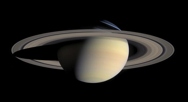 largest, most detailed, global natural color view of Saturn and its rings ever made