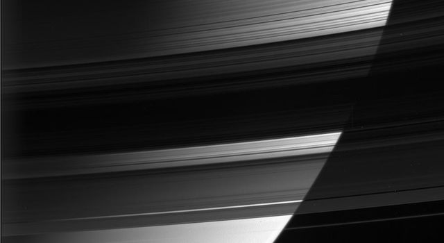 Some parts of Saturn's B ring are up to 10 times more opaque than the neighboring A ring