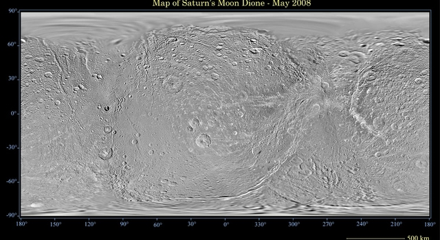 global map of Saturn's moon Dione