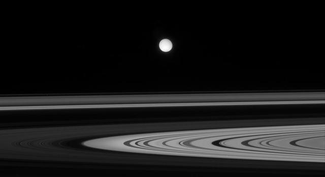 Enceladus and Saturn's rings