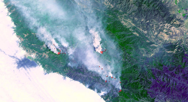 fires near Big Sur, Calif.