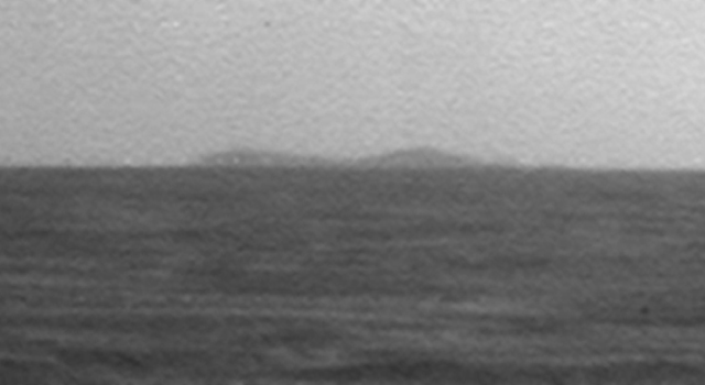 North Rim of Endeavour Crater on Horizon