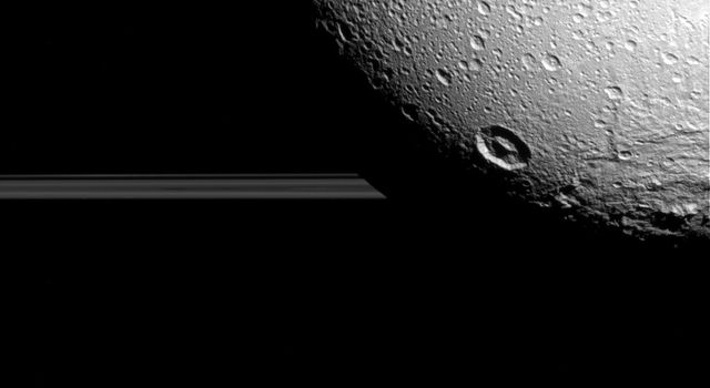 Dione: Craters and Rings