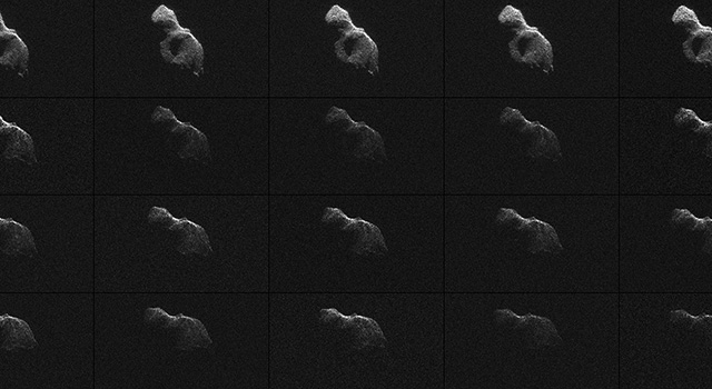 Radar images of Asteroid 2014 HQ124