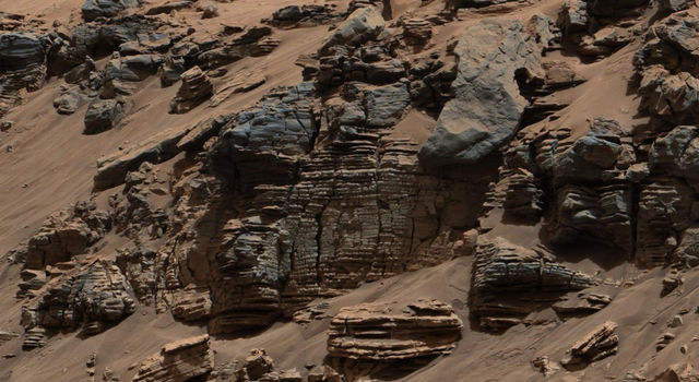 Sedimentary Signs of a Martian Lakebed (Shallow Part)